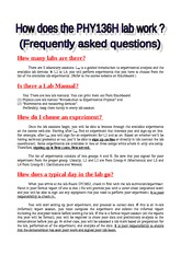PHY136H Frequently Asked Lab Questions Sep 2013