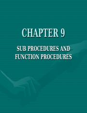 Ch 9_Subprograms and Functions