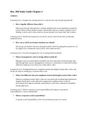 Bus 300 study guide chapter 4.docx