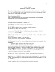 resurrection worksheet