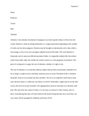 argumentative essay on abortion