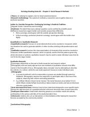 SOCIO Reading Notes#2 - Chapter 2- Social Research Methods.docx