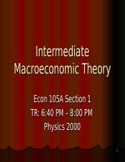 Introduction - Econ 105-1 F16.ppt