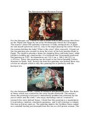 The Renaissance and Baroque Europe.docx