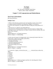 Ch07 Test Bank-Cell Communication and Multicellularity.doc