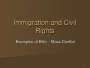 Mar 4 - Immigration and Civil Rights Spring 2008