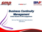 SMFBPO101_006_BCM-Critical Situation in BPO Engagements_Slide Deck_01032013_013 (Ver