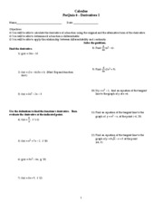 Quiz 6 (Prequiz) - Derivatives I