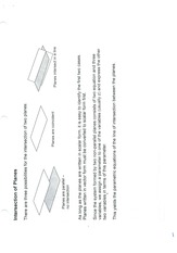 Notes on Planes in 2D & 3D