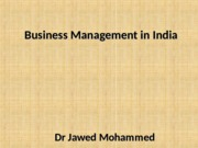 Lecture 4 Business Management in India