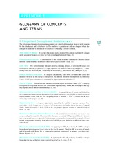 Glossary of Concepts & Terms in Engineering Economy