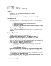 Chemistry Notes - August 23, 2006 (1.1-1.7)