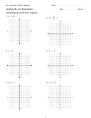 Printables Algebra 1 Graphing Worksheets 6 5 graphing linear inequalities kuta software infinite algebra 1 4 pages inequalities