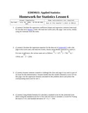 Homework F on Applied Statistics