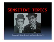 ST 432 Sensitive Topics Lecture