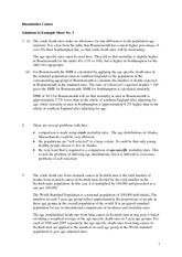 Answers to Biostats Example Sheet 3 (Solutions)