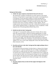 PSYCH 515 Week 3 Team Assignment Case Study Post Traumatic Stress Disorder (UOP Course)