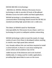 WiMAX-Technology
