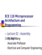 Lecture 02. PIC16F1937 Assembly Language