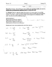 Exam 3 - Potential and Field, Current and Resistance, and Fundamentals of Circuits