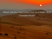 Global climate change and food production (1).ppt