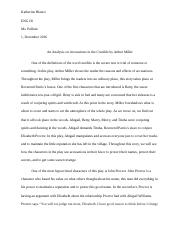 An Analysis on Accusations in the Crucible by Arthur Miller.docx