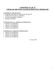 Chem 162-2007 final exam + answers