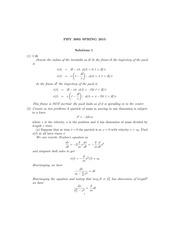PHYS 3003 Spring 2015 Assignment 1 Solutions