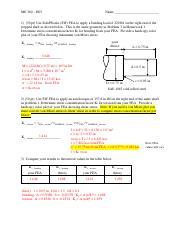 h07 docx - ME 360 H07 Name 1 Use Norton Example 7-1 to write