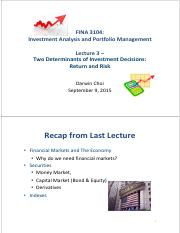 Lecture 3 Sep 9 2015
