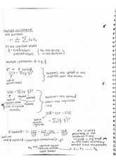 Multiple Correlation Notes