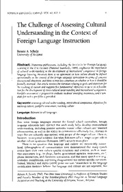 Week7.The_Challenge_of_Assessing_Cultural_Understanding_in_the_Context_of_Foreign_Language_Instructi