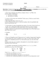 Pre-Course Worksheet
