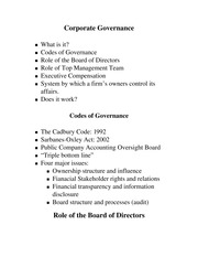 SGMT 3000-Corporate Governance