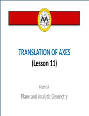 math14_lesson 10_TRANSLATION OF AXES