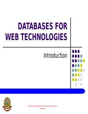 DATABASES FOR WEB TECHNOLOGIES.ppt