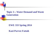 Topic 3 - Water Demand and Waste Generation-1