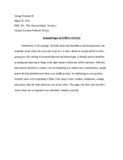 Aristotle Paper Intro Draft