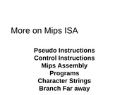 Chapter 2 ISA-MIPS Programming