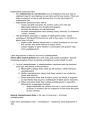 Employment Protection Laws Notes