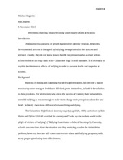 Research Paper - Bullying