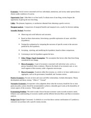 Economics-Study Guide Test 1