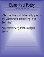 Poetry Lesson Cornell Notes.ppt