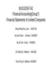 Financial Accounting(Group7)