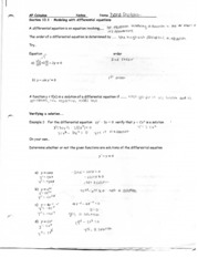 modeling differential equations notes