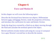 HR6(1) Chapter 6  Force and Motion II