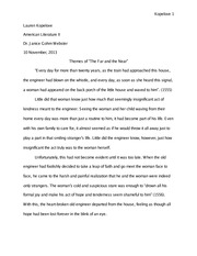 American Literature The Far and the Near Themes Essay