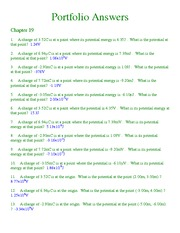 Chapter 19 Homework Solutions