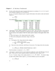 Chapter 5 Homework Solution on Synchronous Generators I
