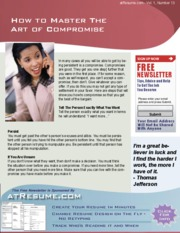 job help - how to Master the Art of Compromise